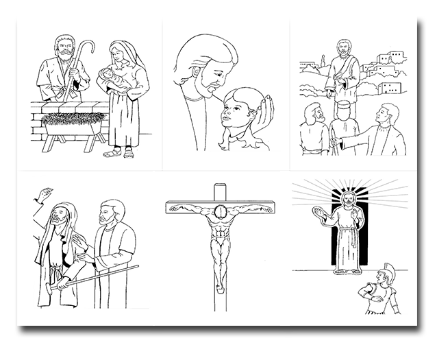 coloring pages of jesus life | Life of Christ Coloring Pages | Who's Teaching the Babies?®