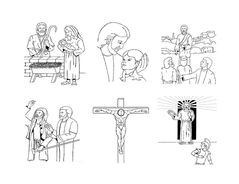 Life of Christ Coloring Pages
