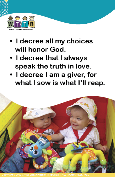 Prophetic Decrees Flash Cards